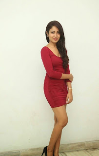 Actress Aditi Chengappa Pictures in Short Dress at Moodu Mukkallo Cheppalante Audio Launch 13