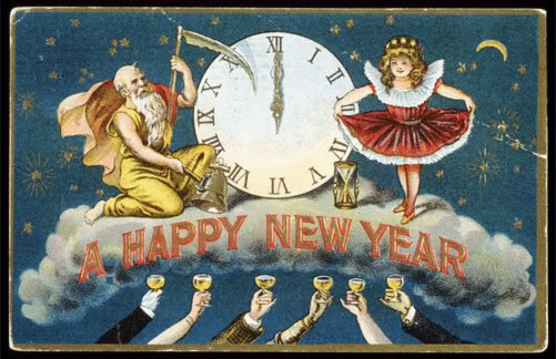 Victorian New Year's card.