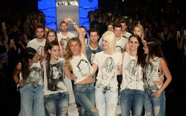 Gisele Bundchen, top model, uber model, brazilian model, colcci, spfw, brazil, sao paulo