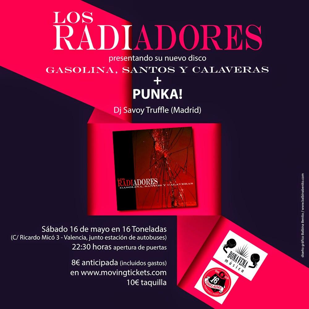 Los Radiadores Sala 16 Toneladas concierto 16 de Mayo