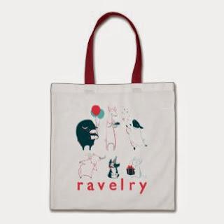 Ravelry Inspired Tote Bag
