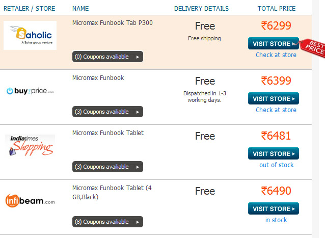 micromax-funbook-tablet+offer+online price