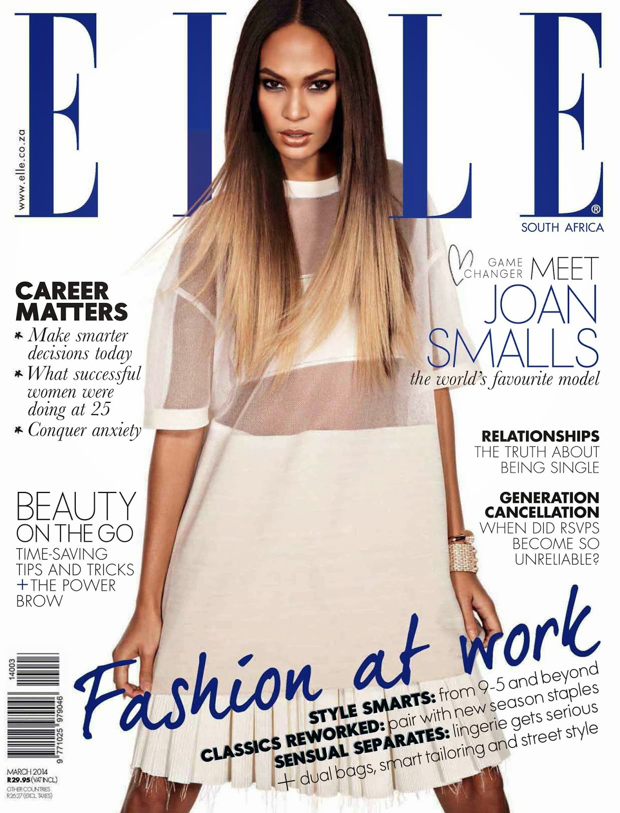 Joan Smalls Photos from Elle South Africa Magazine Cover March 2014 HQ Scans