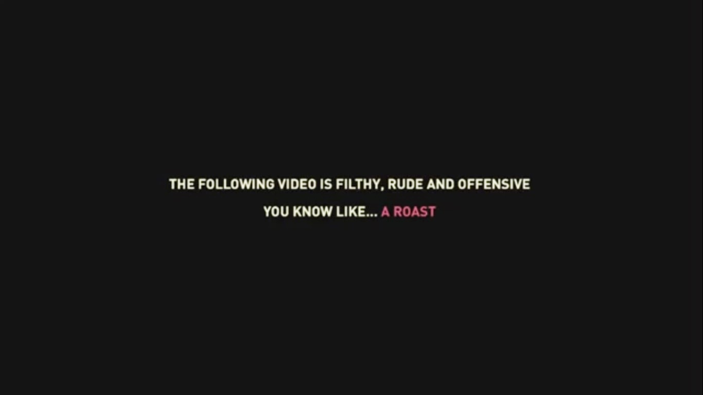 AIB Knockout Roast - screen grab of statutory warning
