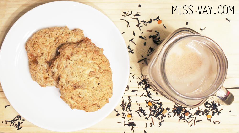 Automne Biscuits et latté au thé chaï citrouillé de David's tea