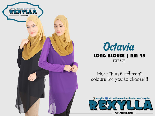 rexylla, blouse, long blouse, octavia collection