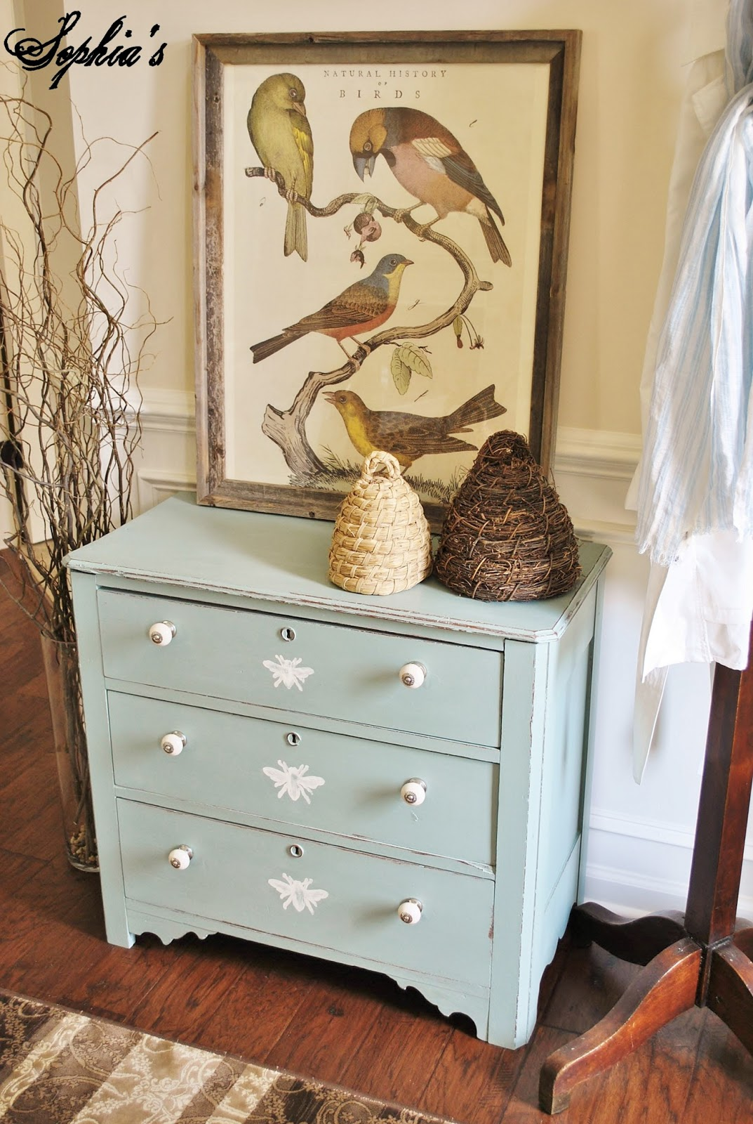 Painted Honeybee Dresser