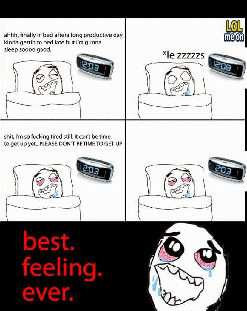 best feeling ever - funny cartoon picture