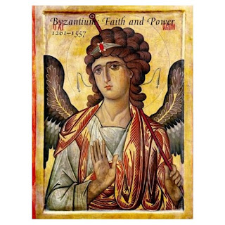 Byzantine Icon with the Archangel Gabriel, 13th century.