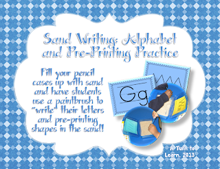 http://www.teacherspayteachers.com/Product/Sand-Writing-Alphabet-Formation-and-Pre-Printing-Practice-985870