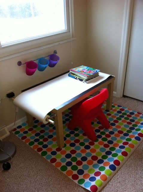 Fork paper scissors kids art table ikea style for Ikea drawing desk
