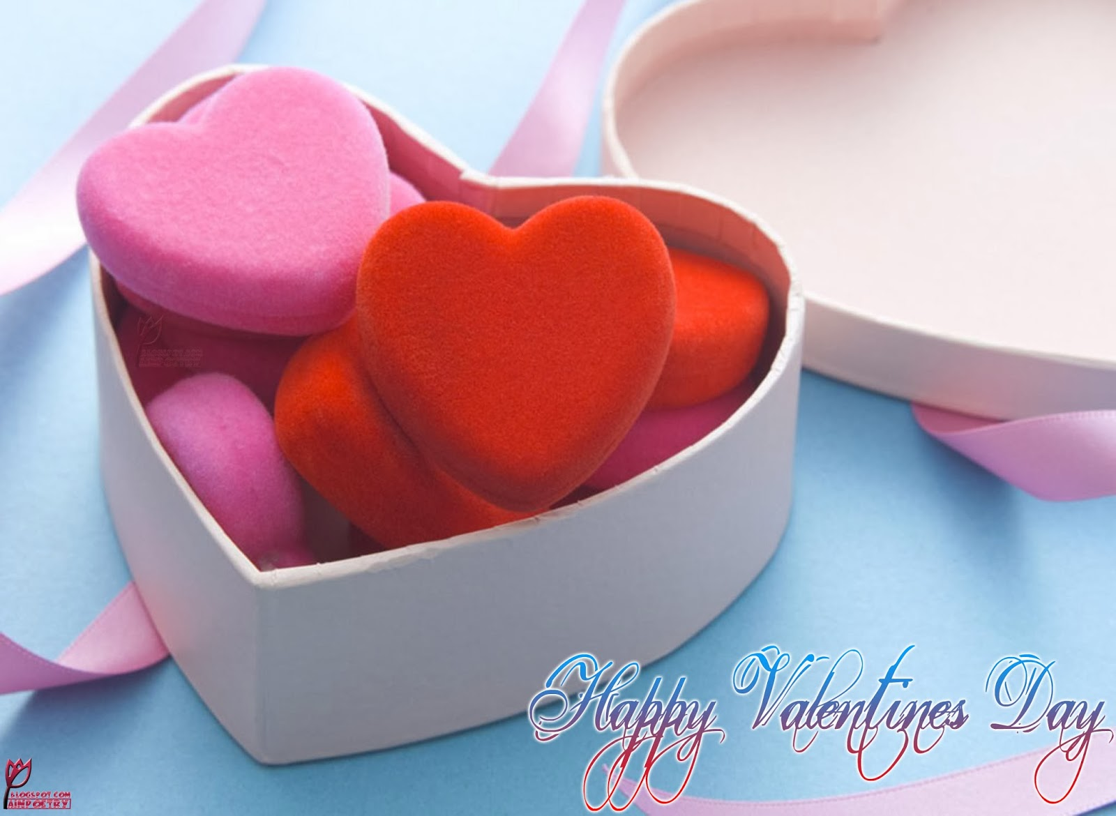 Happy Valentines Day Wishes Wallpaper With Hearts Photo Image HD