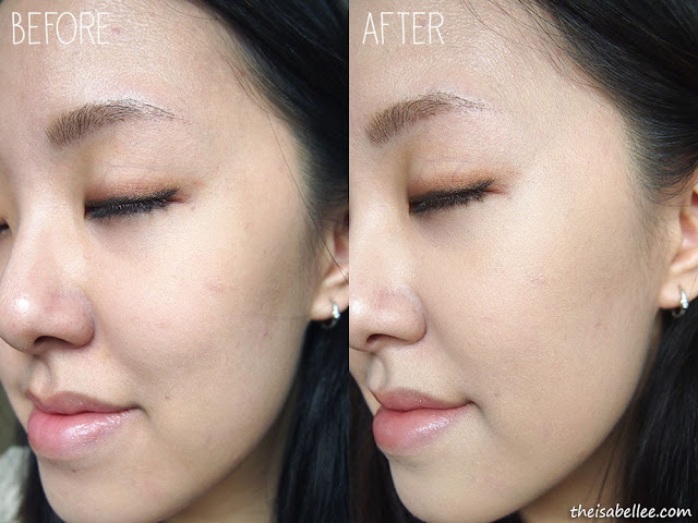 Before and after The Face Shop Oil Control Water Cushion