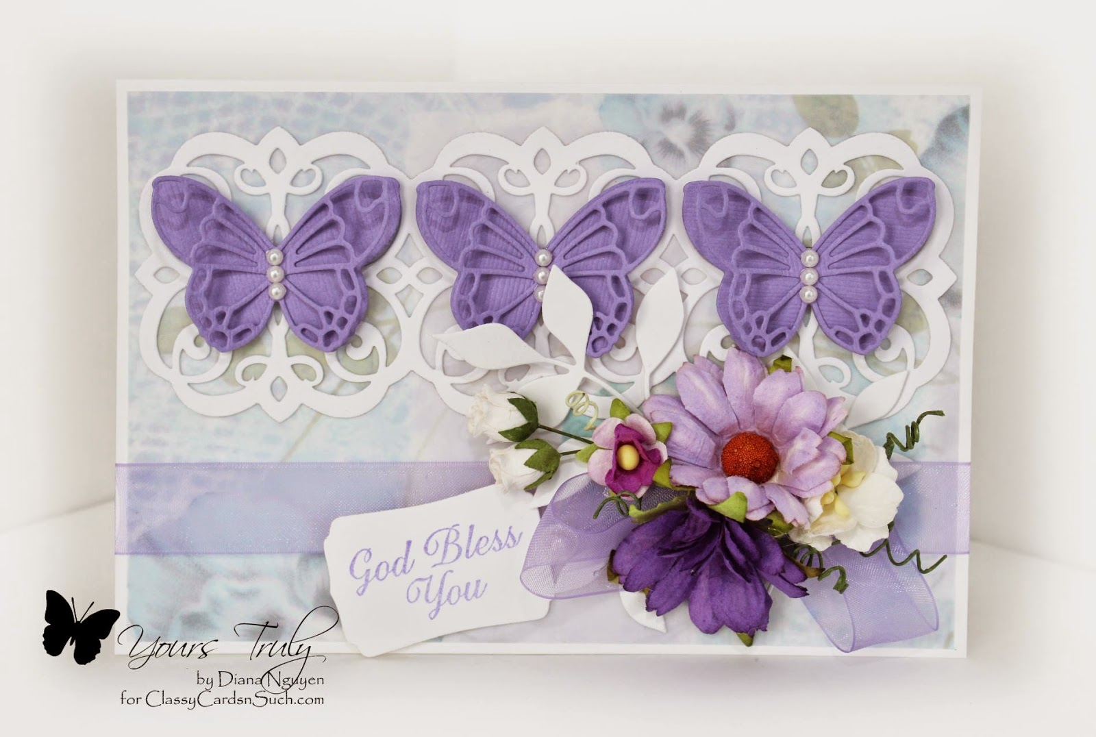 Diana Nguyen, Shabby Chic, Memory Box, Mary Border Strip, Spellbinders, Our Daily Bread Designs, butterfly