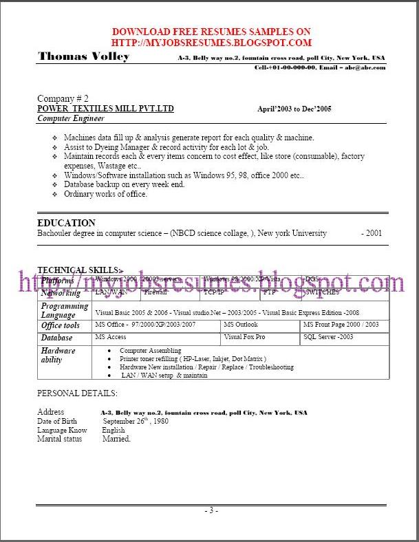 fresh and free resume sles for free resume