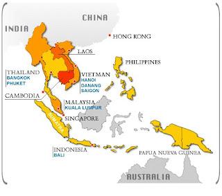 Mapa sudeste asiatico