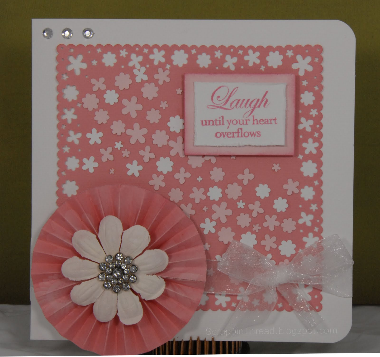 It May Appear That Im On A Martha Stewart Around The Page Punch Kick Ummm Maybe So Here Is Another 6 X Card Made With Flower Shower Punches