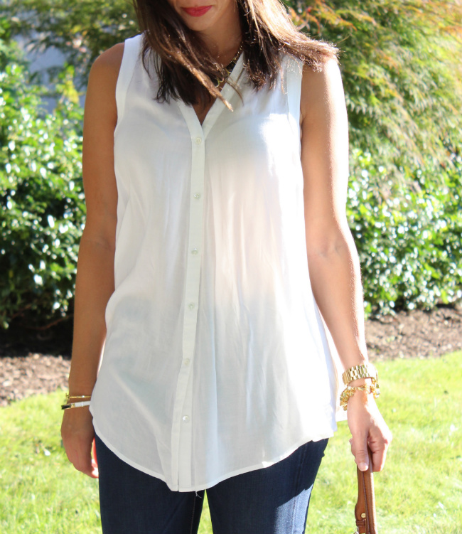 white and billowy top