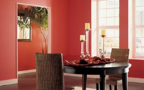 Comedores color coral colores en casa - Coral paint color for living room ...