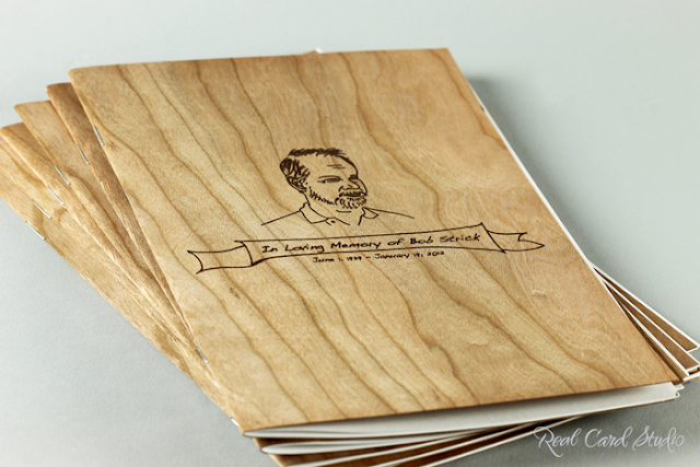 Wood card, illustration, booklet