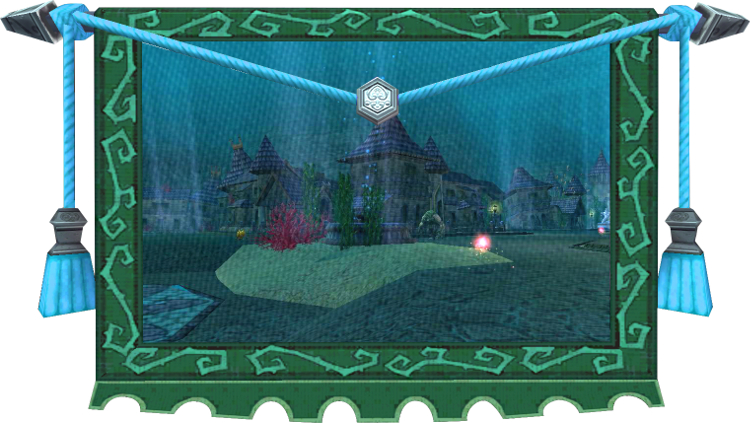 Wizard101 Tapestry - Crab Alley