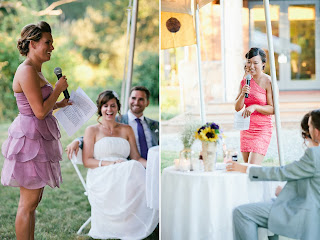 Toasts at Caitlin and Ben's weddings.  Patricia Stimac, Seattle Wedding Officiant