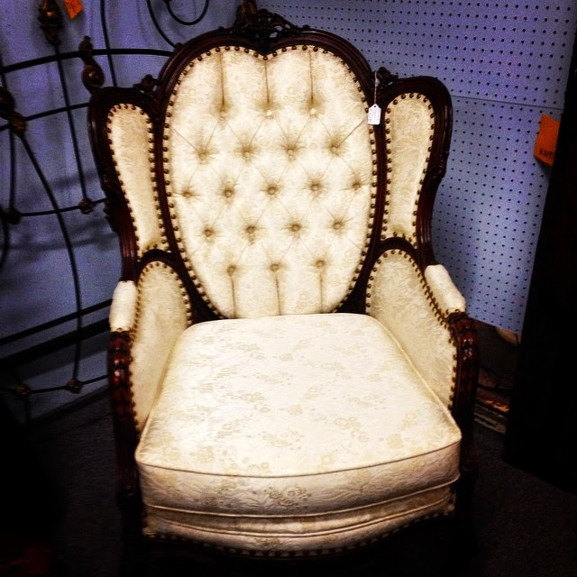 #thriftscorethursday Week 56 | Instagram user: stephlovesdesign shows off this Victorian Chair