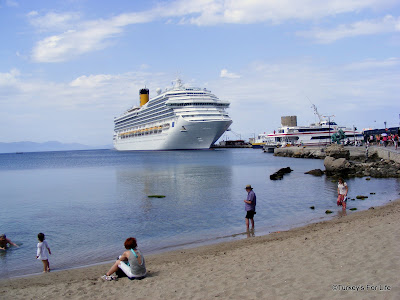 Cruise Ship in Mandraki Harbour, Rhodes
