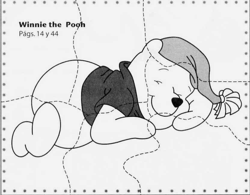 Quebra-cabeça urso poof