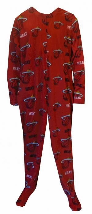 Miami Heat NBA Onesie Footie Pajama