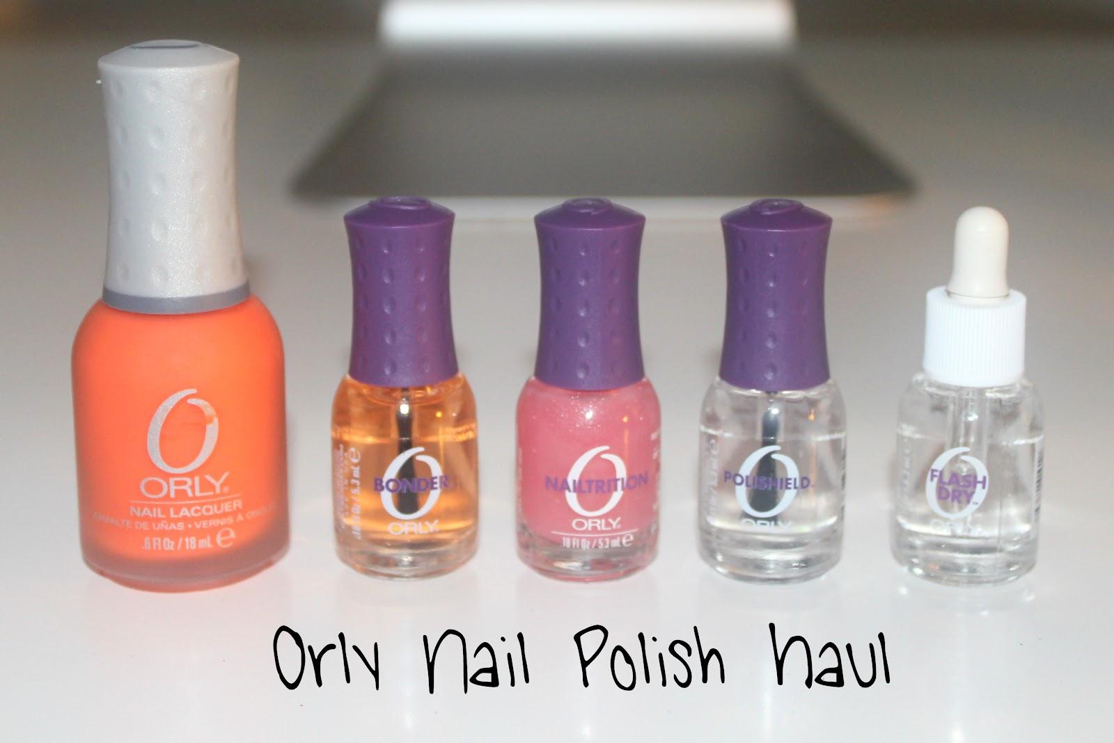 Orly Nail Polish Haul