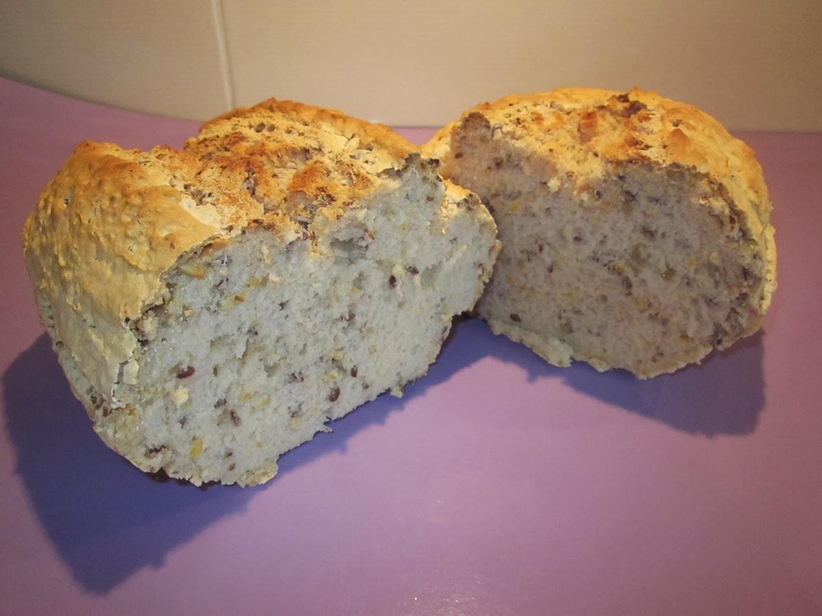 préparation de pain aux graines sans gluten