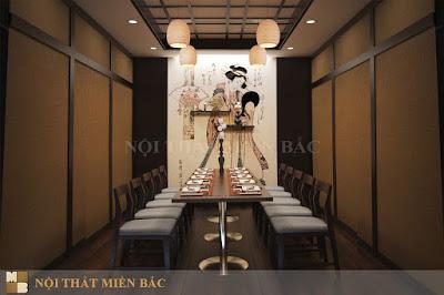Thiết kế nội thất nhà hàng Nhật Bản cao cấp, sang trọng5