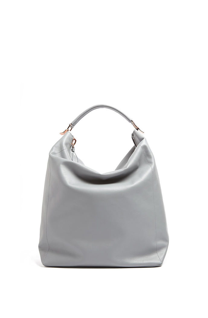 Must have bags of 2014. Cedric Charlier grey leather tote bag