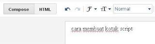 cara membuat kotak script di posting blog
