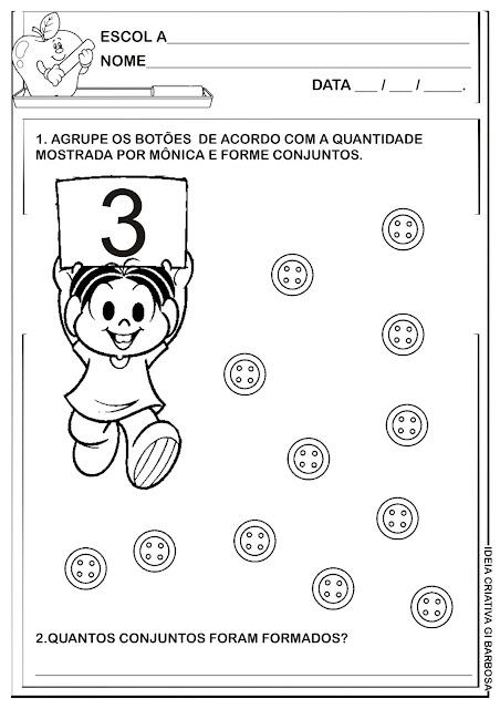 Atividade Educação Infantil Conjuntos - Agrupamentos