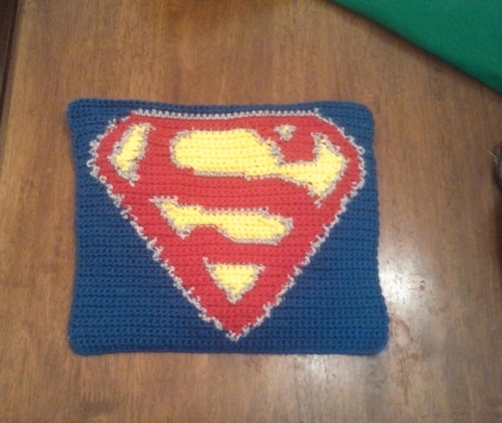 Butterfly\'s Creations: Superhero Afghan: Superman (Block 2)