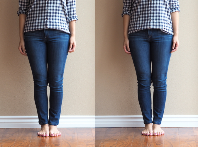 Skinny jeans tend to fit me like the picture on the left, not completely  fitted to my ankles without alterations. This looks fine with flats or  pumps, ... - Putting Me Together: How To Wear Ankle Boots With Jeans And Skirts