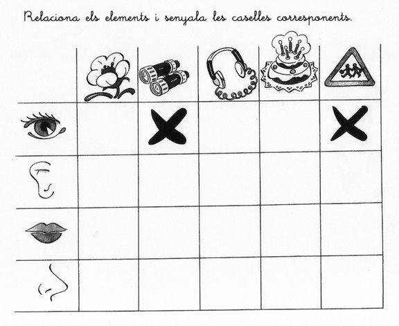 Fichas infantiles fichas de los sentidos para ni os for Mural de los 5 sentidos