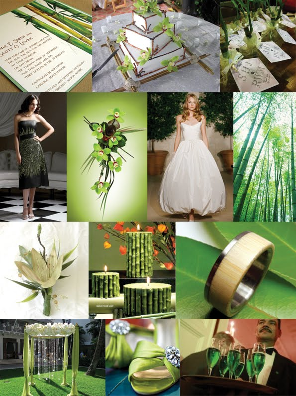 These are my wedding theme color the main one the color is green and