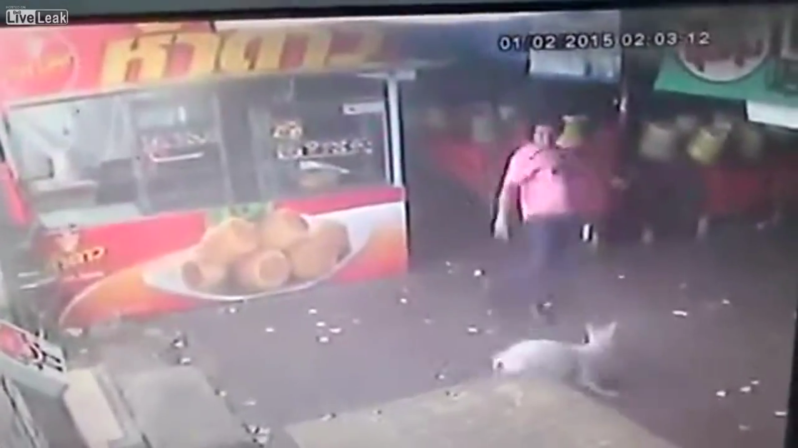 Instant Karma - A Guy Gets He Deserves after Trying to Kick a Dog