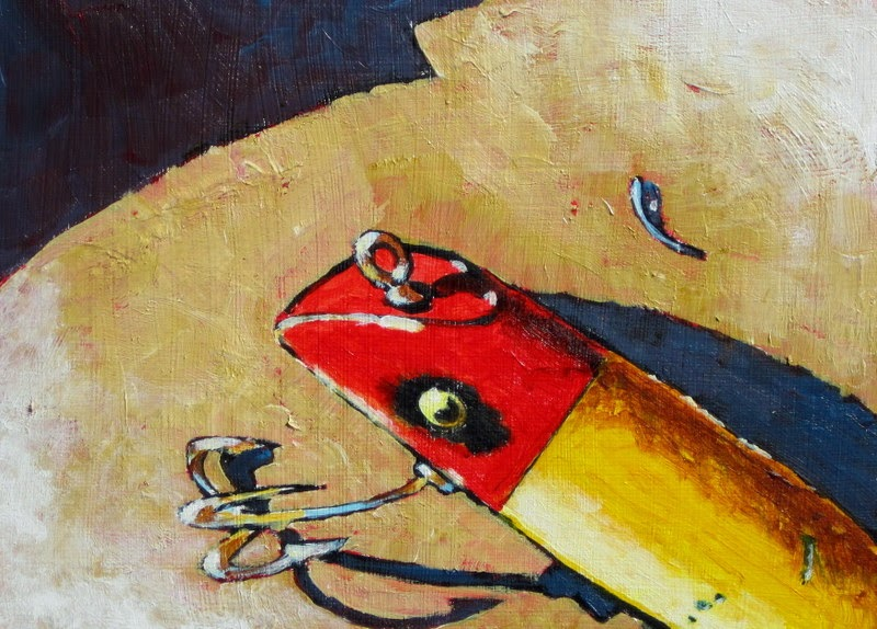 sport art | fishing lure | painting