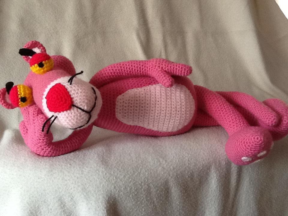 Amigurumi Free Pattern Pink Panther : Sweet Dollies: AMIGURUMI PANTERA ROSA - PINK PANTHER