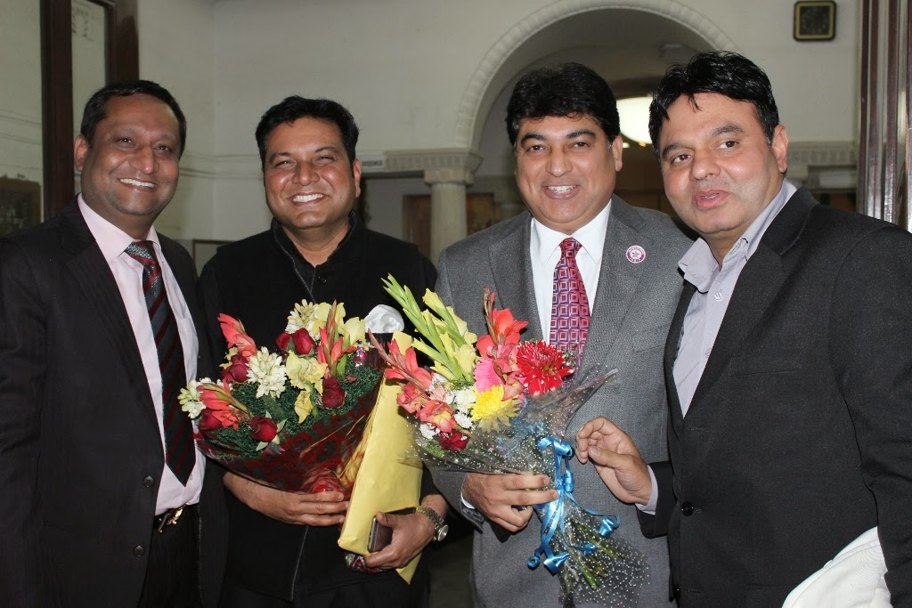 Mr. Anuj Garg ,Mr.RC Dalal ,Captain Rahul Bali with Mr.Nasrullah Qureshi