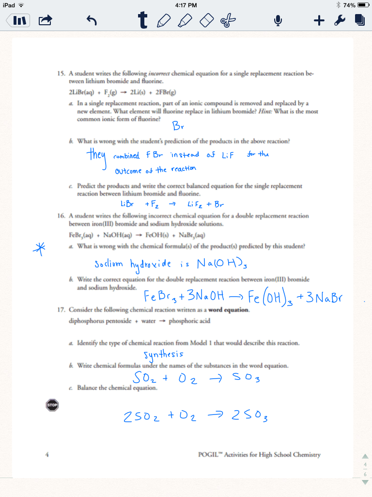 types of reaction worksheet – Synthesis Reactions Worksheet