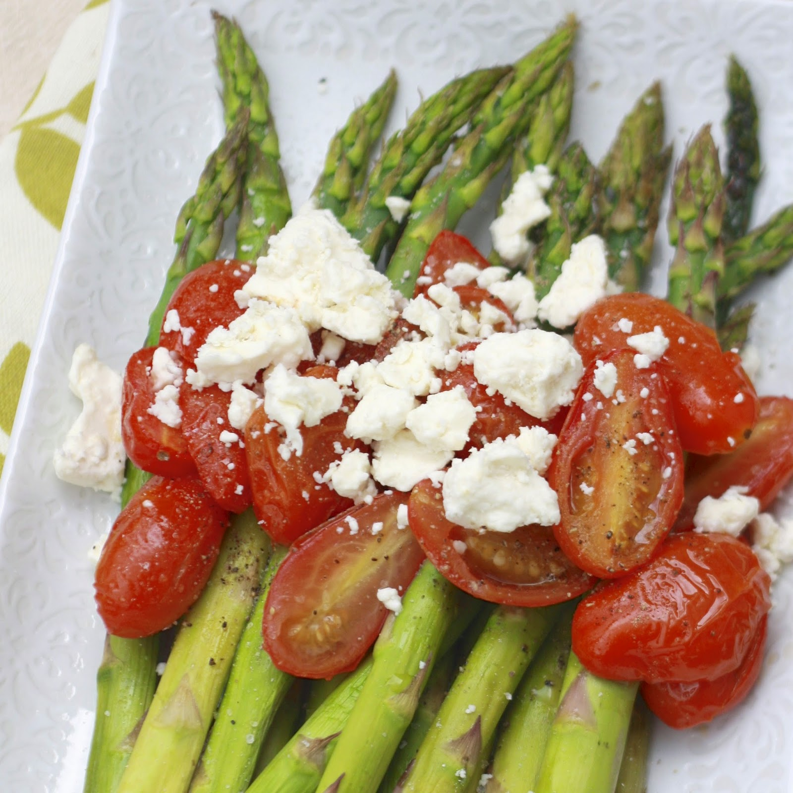 Asparagus and Tomatoes with Feta | The Sweets Life