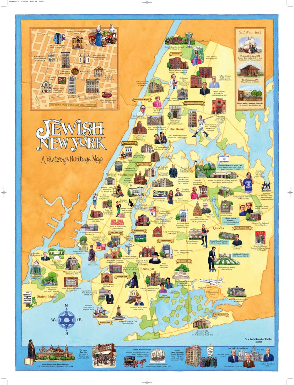 random notes geographeratlarge Unconventional yet informative – New York City Tourist Map