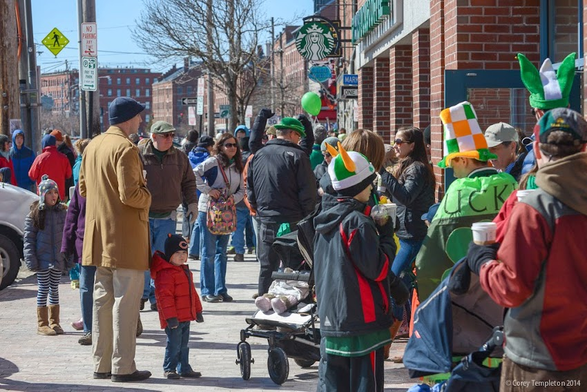Portland, Maine March 2014 St. Patrick's Day Parade on Commercial Street in the Old Port photo by Corey Templeton