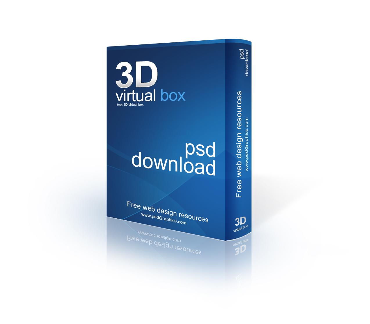 Gratis grafis 3d software box psd template for Software di progettazione di mobili download gratuito 3d