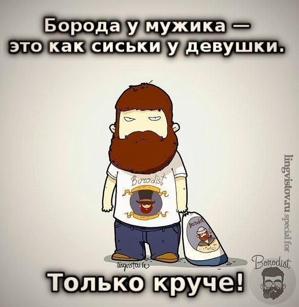 борода у мужика это как сиськи у девушки. только круче